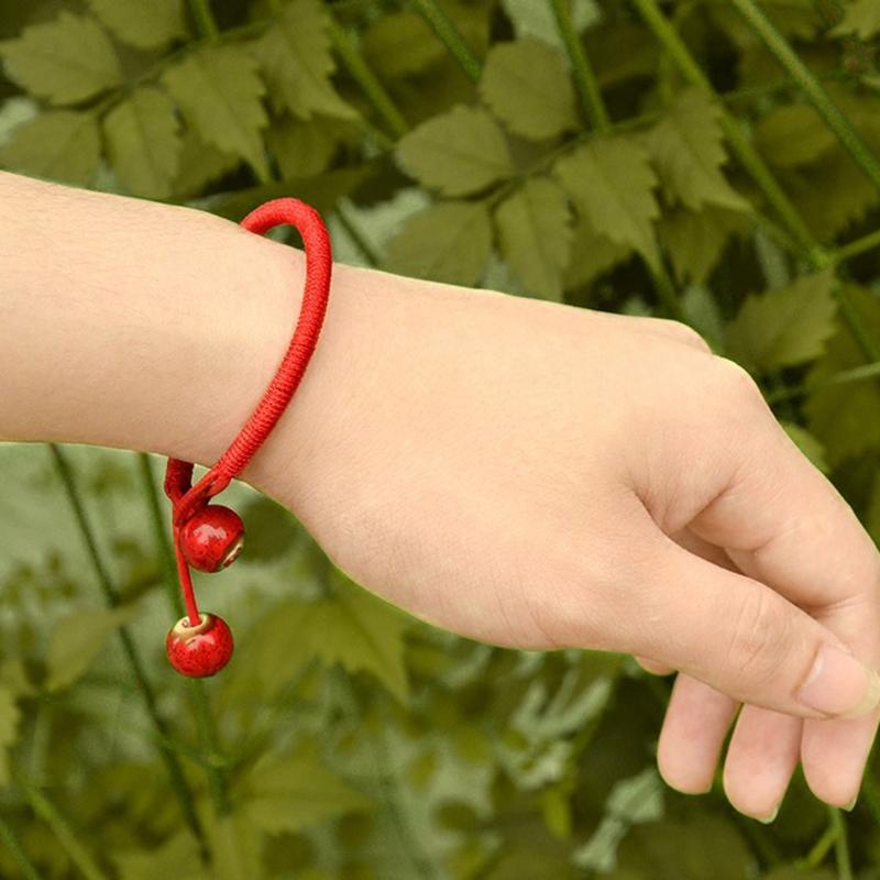 d373666205a2e Handmade Bead Lucky Red String Ceramic Bracelets   Bangles Lovers Lucky  Jewelry Baby Charm Bracelet Girls Charm Bracelets From Buete