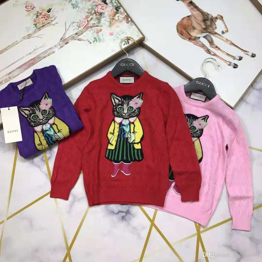 a6887f6e2 Children S Autumn And Winter Sweater Embroidery Round Neck Pullover ...