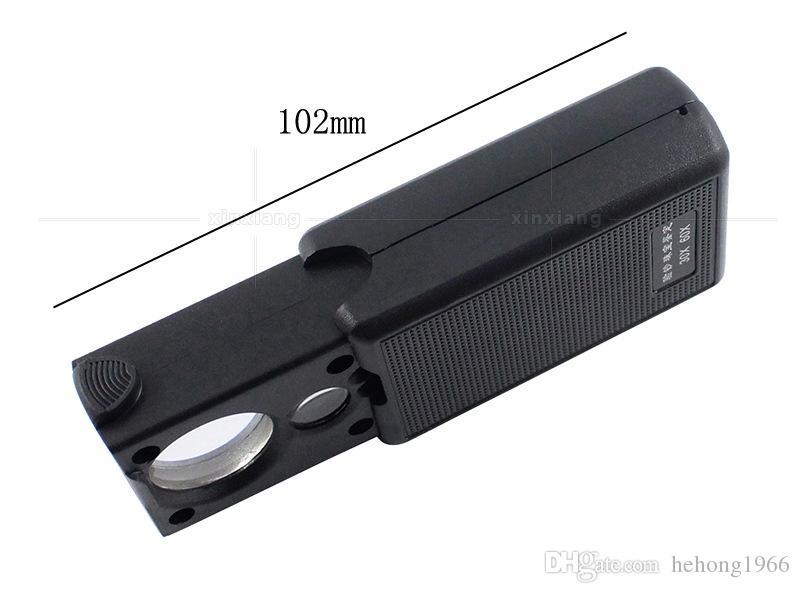 휴대용 30X 60X Loupes LED 빛 높은 전원 보석 미니 접이식 돋보기 쥬얼리 돋보기 포켓 현미경 5 2xx Z