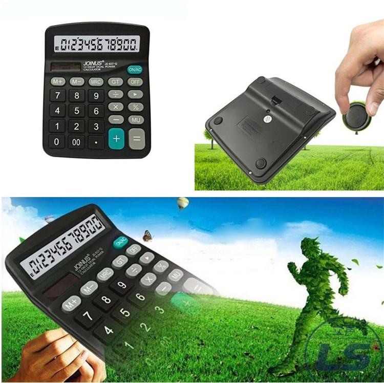 New 12 Digits Classic Scientific Solar Calculator Finance Office Calculator  For Students Workers Convenient Stationery supplies T3I0448
