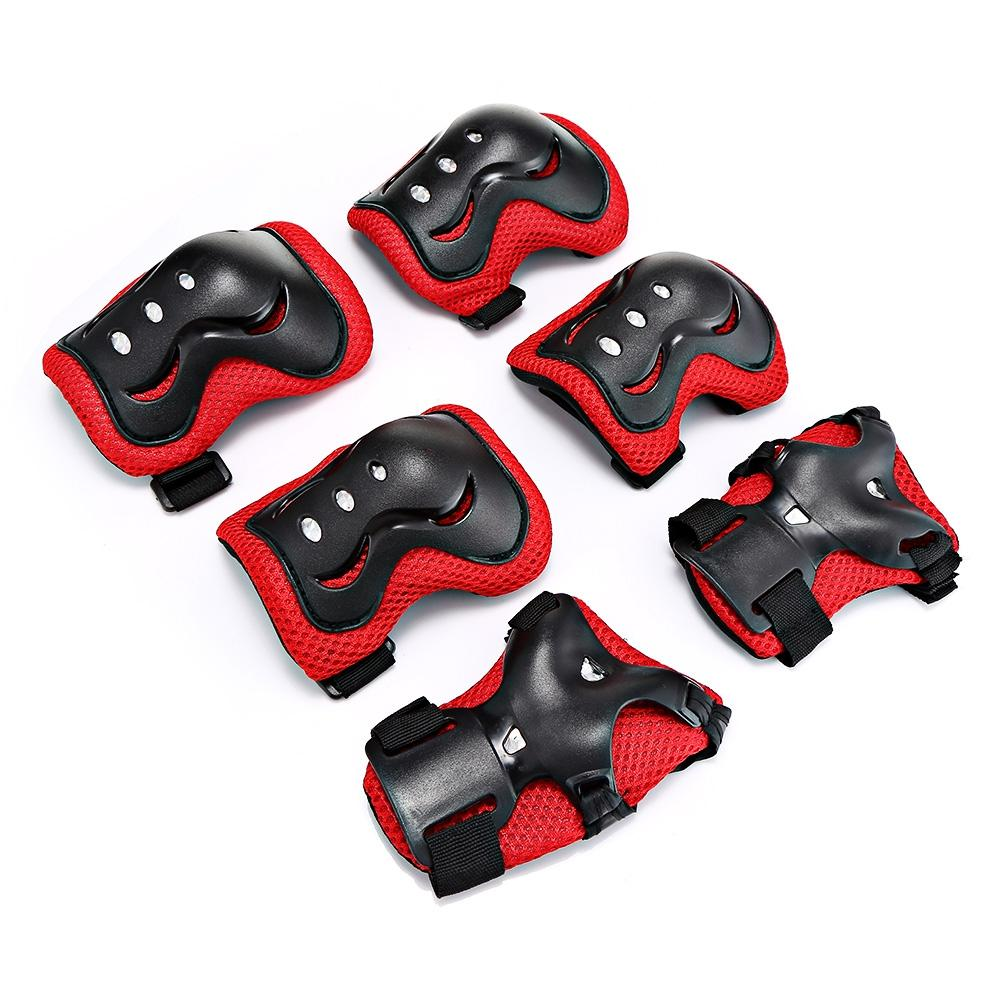 6pcs/Set Children Protective Gear Pad Roller Skateboard Protective Patins Set Kids Knee Pads Elbow Pads Wrist Protection for Scooter VB