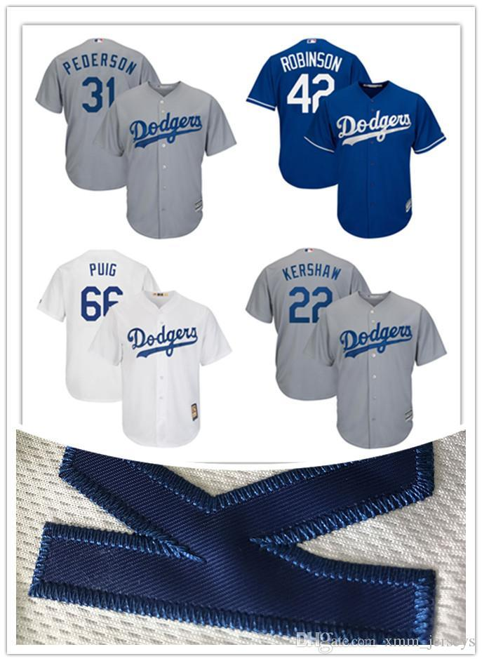 533640ad430 2019 Los Angeles Dodgers Baseball Joc Pederson 31 Jackie Robinson 42 Yasiel  Puig 66 Majestic Royal Alternate Big   Tall Cool Base Stitched Jersey From  ...