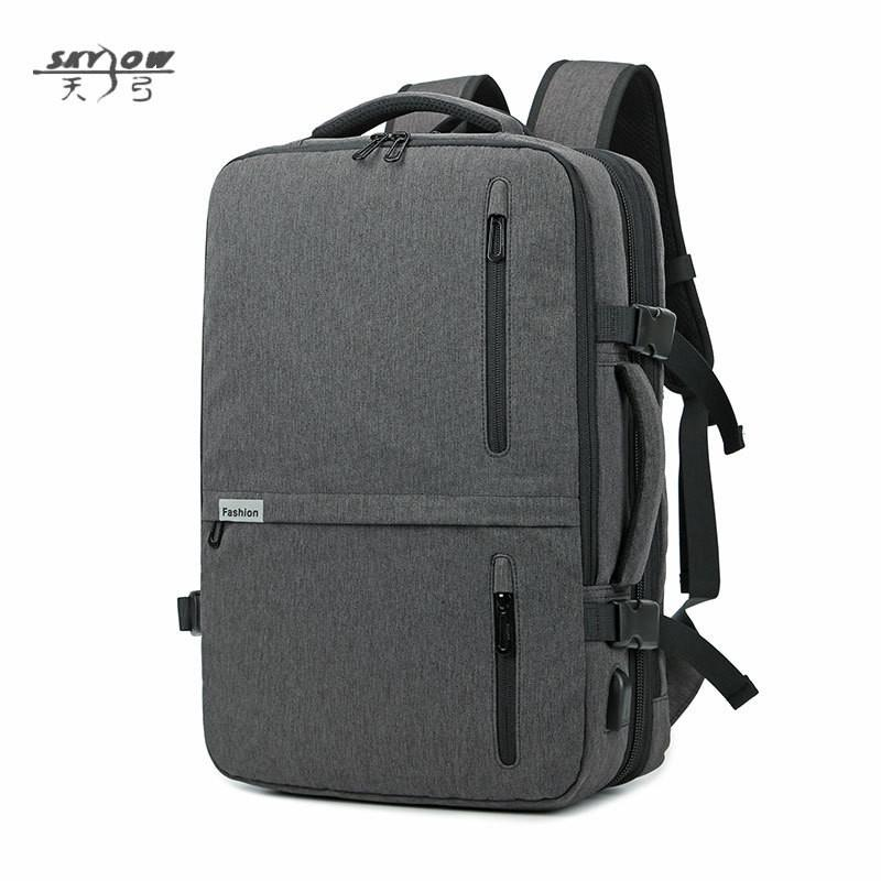 2847a05c83 2018 Usb Bags Laptop Backpack 17 19 In Men Casual Waterproof Business 20  35l 8827 Large Capacity Bag Male Gray Black Travel Bags School Bags  Messenger Bags ...