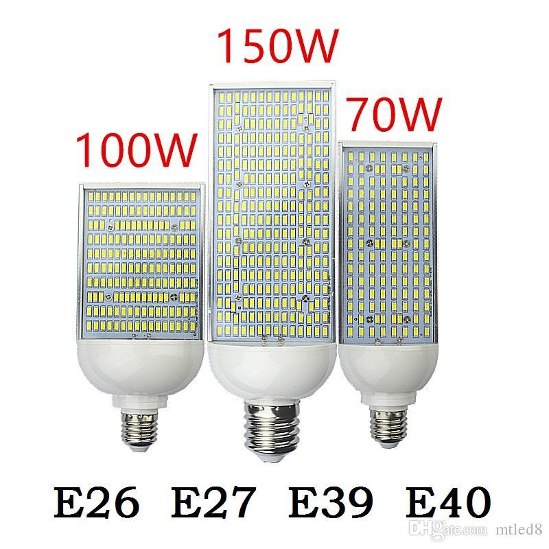 70W 100W 150W LED street Spot light E26 E27 E39 E40 Energy saving high power Corn Bulb Aluminum Lamp 110V 220V Lampada Lighting