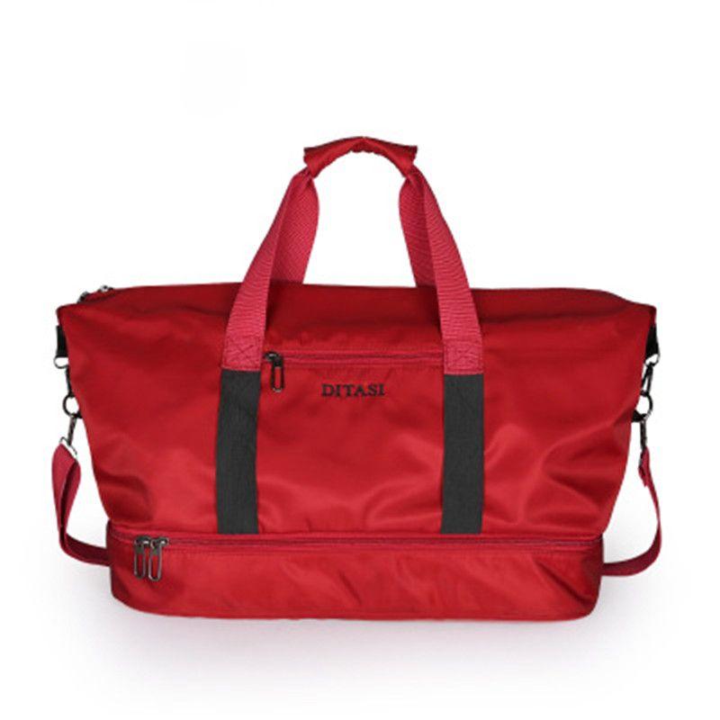 2018 Travel Luggage Waterproof Nylon Sports Bag Lady Duffel Gym Bags  Handbags For Women Yoga Mat Swimming Bag With Shoes Gym Bags Cheap Gym Bags  2018 Travel ... 48ee151d3e6fa
