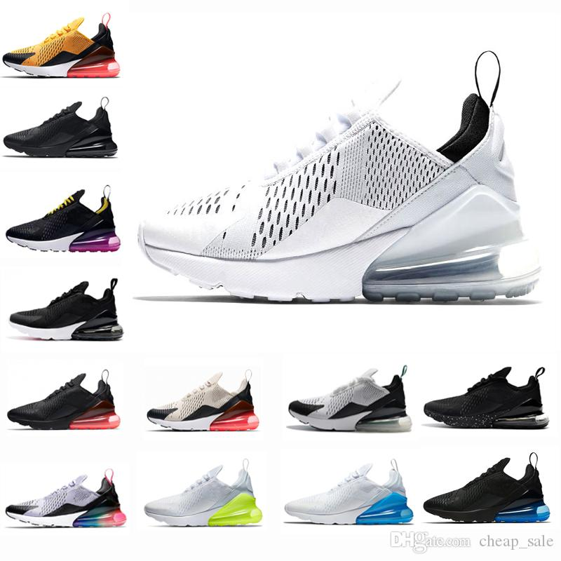 b5190a36195aaf 2018 New Core White Women Mens Running Sports Designer Shoes For Men  Sneakers Cheap Triple Black Light Bone Photo Blue Teal Trainers 270  Vapormax Shoes ...