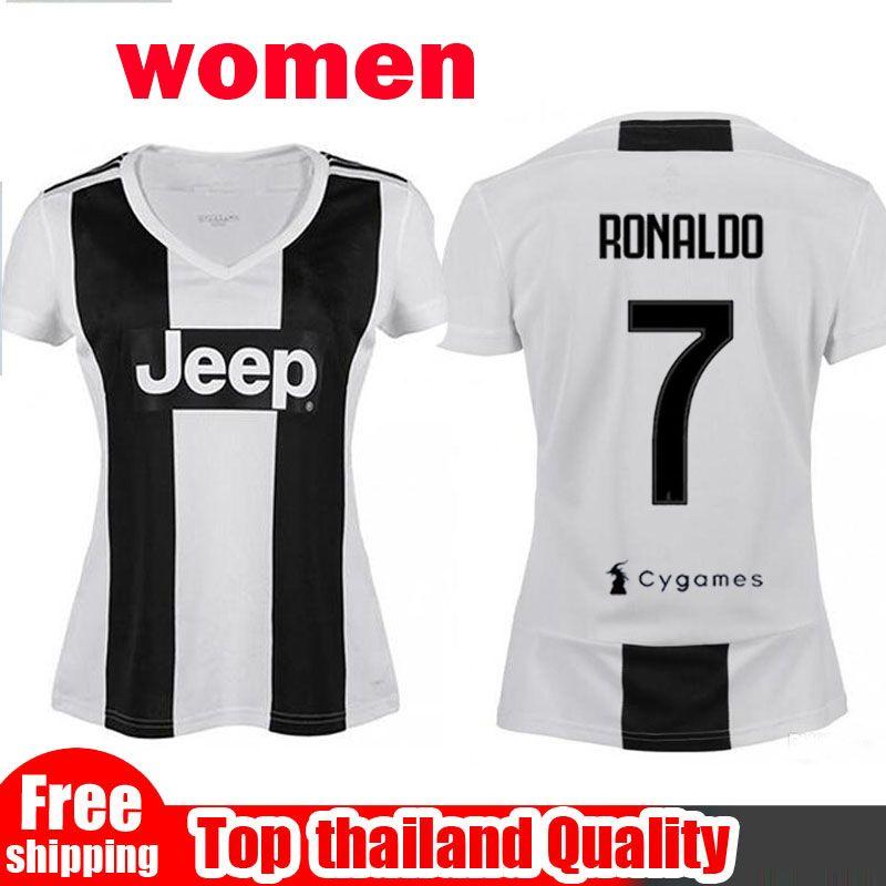 756004e91 Compre 2019 Mulher Juventus Soccer Jersey 18 19 Casa 7 Ronaldo Futebol  Camisa CHIELLINI HIGUAIN DYBALA MANDZUKIC Menina Uniforme De Futebol De  Vendas De ...