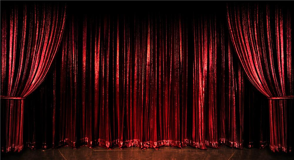 Digital Printed Vinyl Wine Red Curtain Stage Photography Background For Wedding Kids Children Party Photo Booth Backdrops Vintage Backdrop