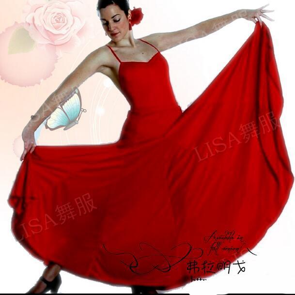 Mädchen Frauen Röcke Tanz Schwarz Kostüme Spanische Rot Kleid Flamenco Roupa Flamengo Neue CdtQshr