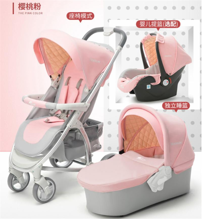 2019 Luxury Baby Stroller 3 In 1 With Car Seat High Landscape