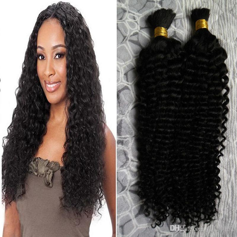 2 bundles 200g kinky curly Brazilian Bulk Human Hair For Braiding Unprocessed Human Braiding Hair Bulk No Weft 200g natural black hair