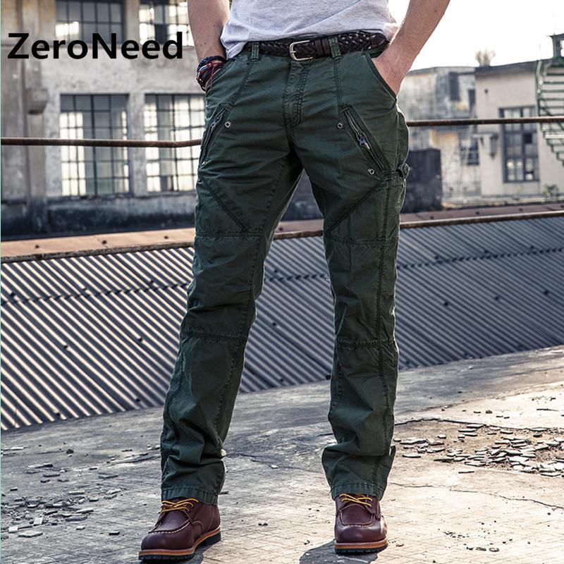 ca38e28f60 Carga Calças Dos Homens Marca de Roupas de Trabalho Pant Men Multi Bolso  Parkour New Fashion Casual Calça Calças Compridas de Alta Qualidade Para O  Homem ...