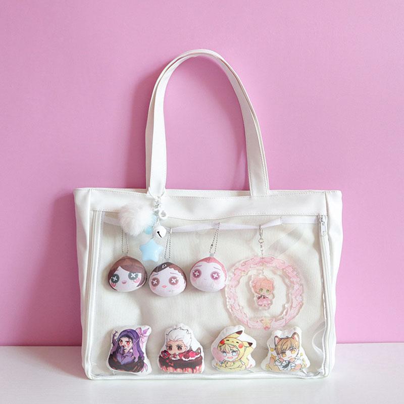 Japanese Ita Bag Kawaii Transparent Window Lolita PU Handbag Shoulder Bag  Lovely Itabag Sweet Cute Girls Gift Lolita PU Handbag Ita Bag Transparent  Window . 0f5e604220e1