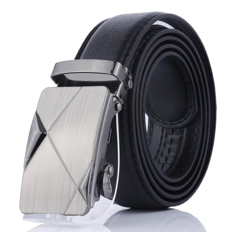 Cinturones de cuero para hombre ocasionales cinturón de hebilla automática vestido de la cintura correa de la correa del cinturón al por mayor PD-004
