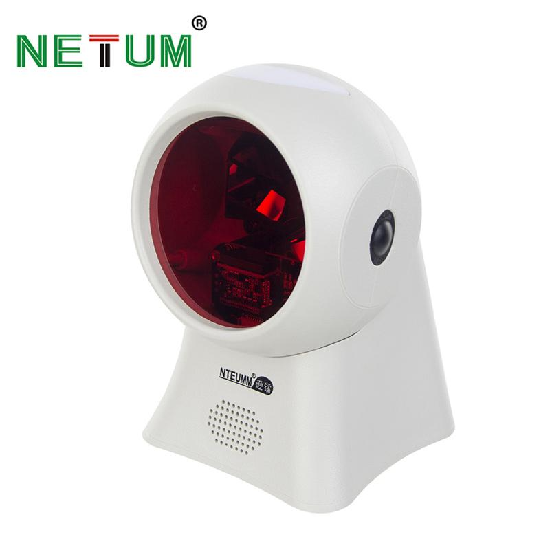 Wholesale-NETUM High Quality Laser Flatbed Barcode Scanner 20 Lines Desktop Omnidirectional Bar code Reader for Retail Store/Supermarket