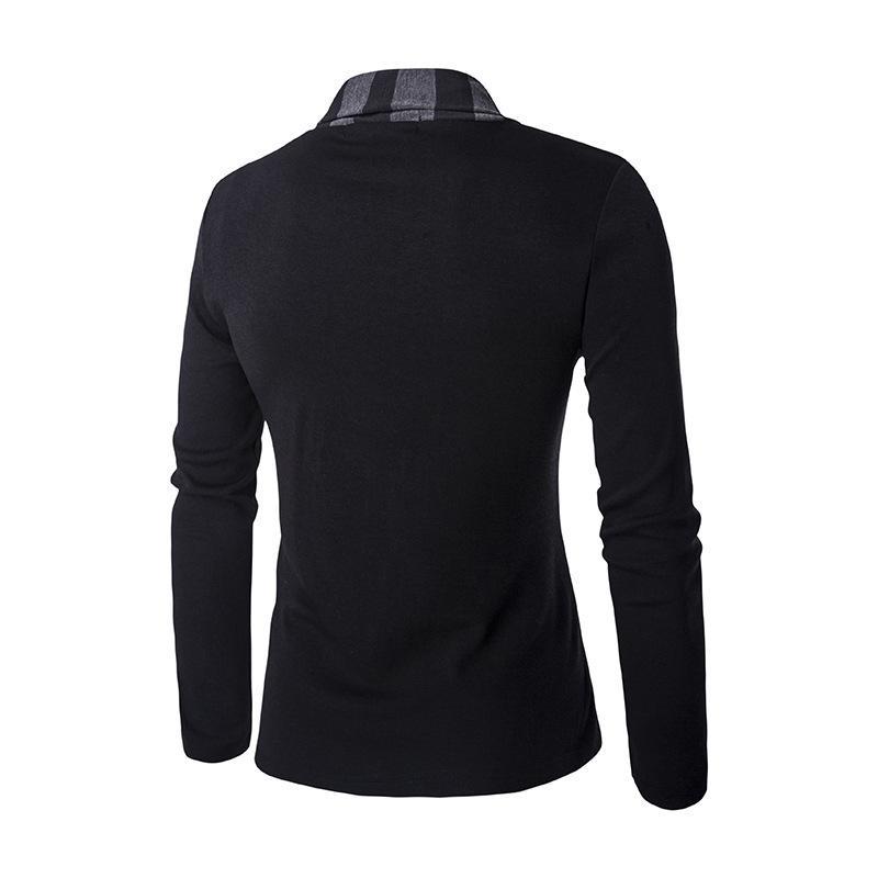 Chandail de poignet de la personnalité des nouveaux hommes manteau manteau manteau manteau rayure mosaïque