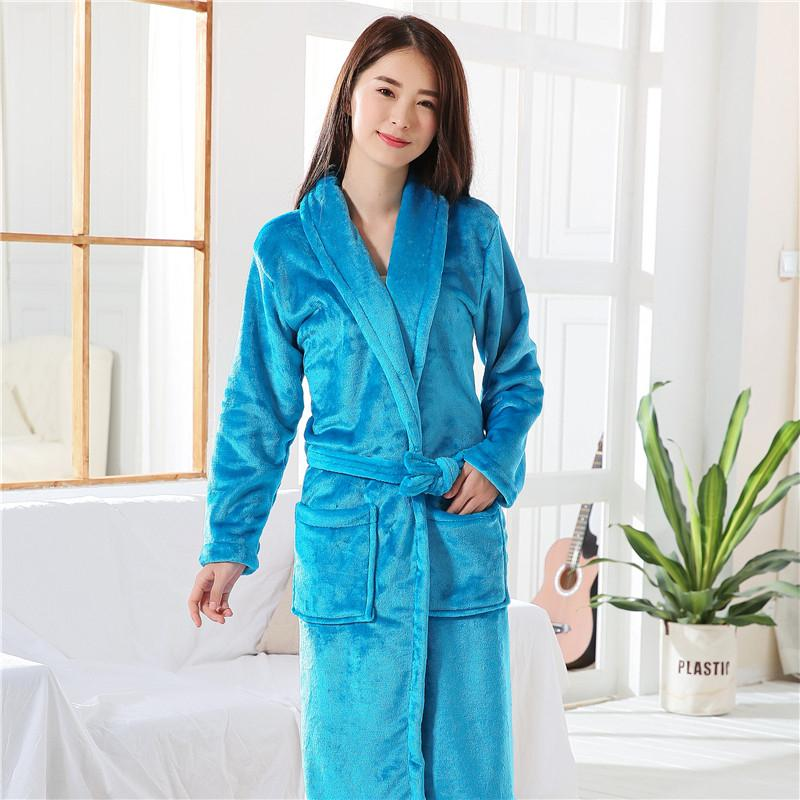 c9db660f1a 2019 Thickening Robe Flannel 2018 Winter Sexy Robes Women Bathrobe Dressing  Gowns For Women Solid Color Bath Robes Peignoir Female From Cailey