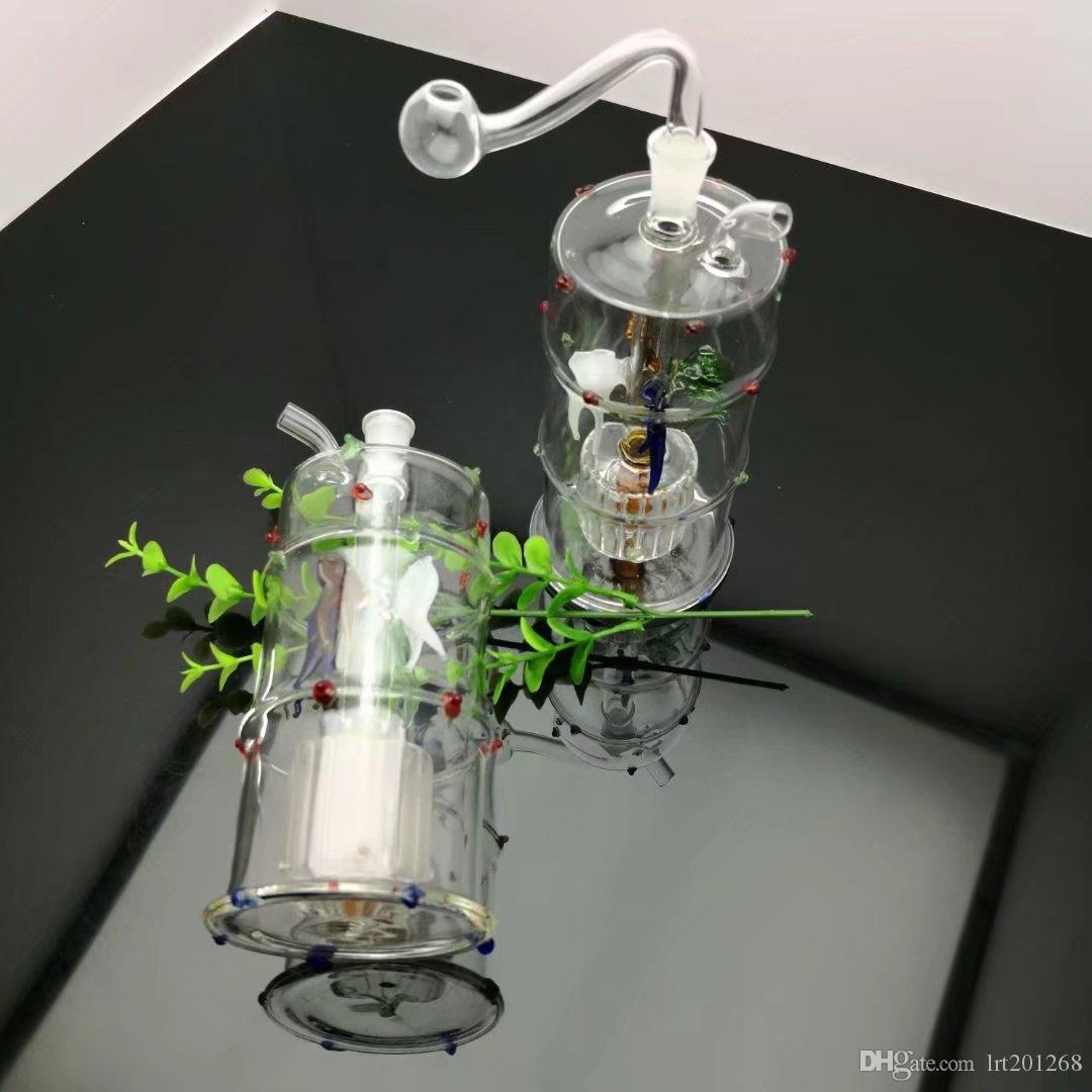 Четыре коготь рыбы цветной фильтр бутылки воды Оптовая стеклянные бонги масляная горелка стеклянные трубы водопроводные трубы стеклянная труба масло