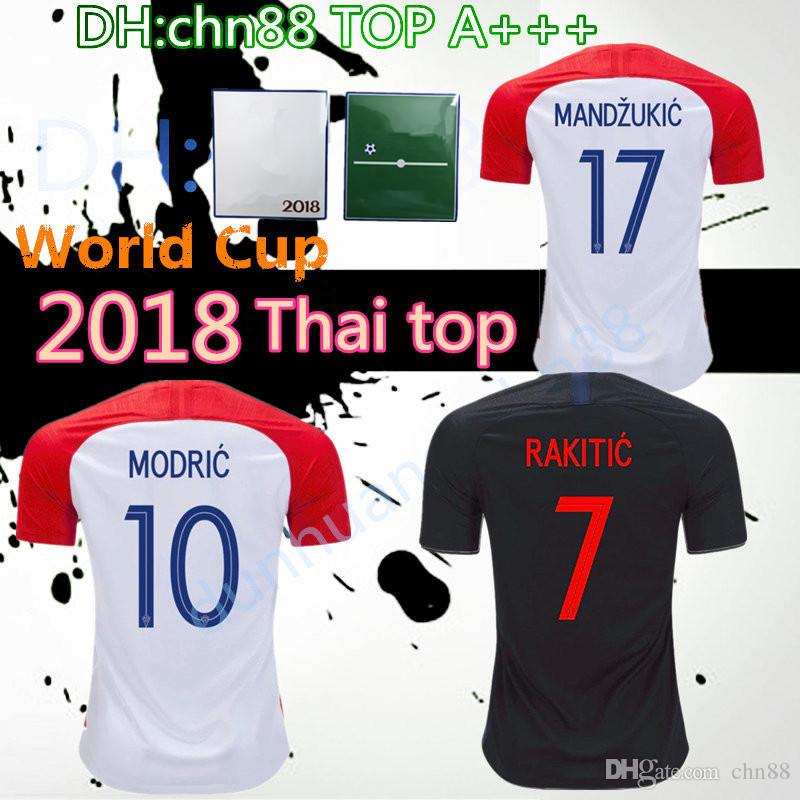 4d8cd014 2018 World Cup Free Patch Home Away Soccer Jersey MODRIC PERISIC ...