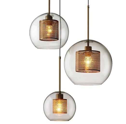 Nordic Moderne Pendelleuchten Wohnzimmer Restaurant Bar Studie Schlafzimmer  Personalisierte Dekorative Eisen Glas Pendelleuchte Beleuchtung