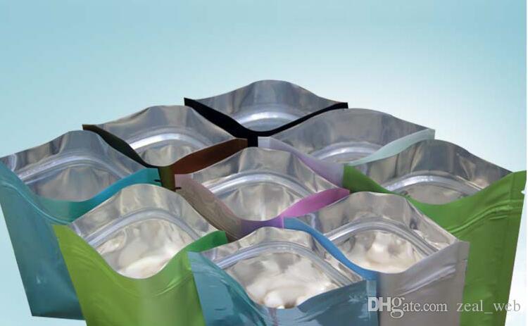 لون كيس من البلاستيك mylar الألومنيوم احباط حقيبة سستة على المدى الطويل تخزين الغذاء والمقتنيات حماية اثنين من الجانب الملونة