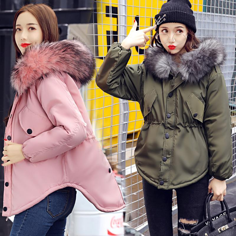 2017 New Pink Winter Coat Women Winter Jacket Women Parka Fur Coat Biggest  Artificial Raccoon Fur Collar Parkas Outerwear UK 2019 From Alfreld 937d2c7d8a