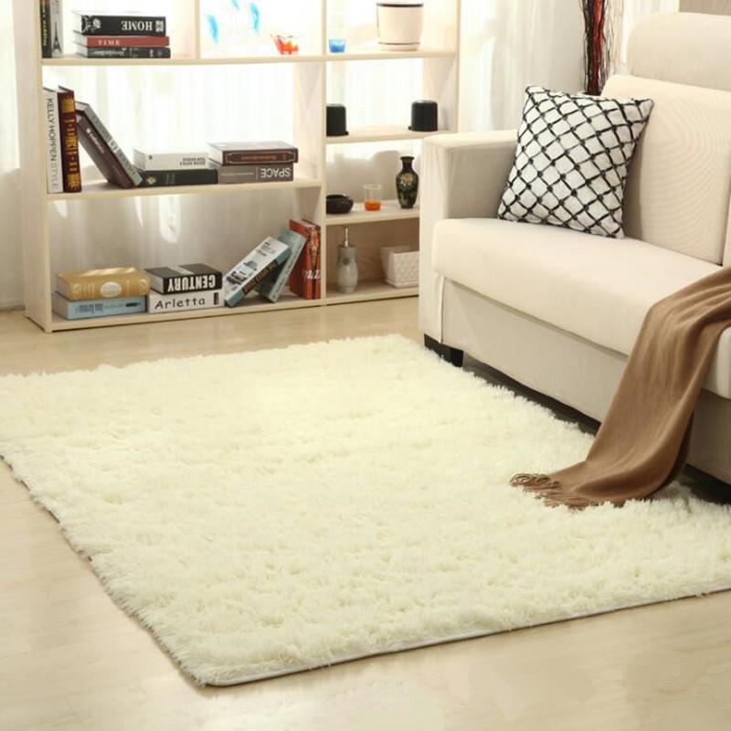 New Fashion Shaggy Carpet Beige Rug Anti Skid Faux Fur Area Rug Fit