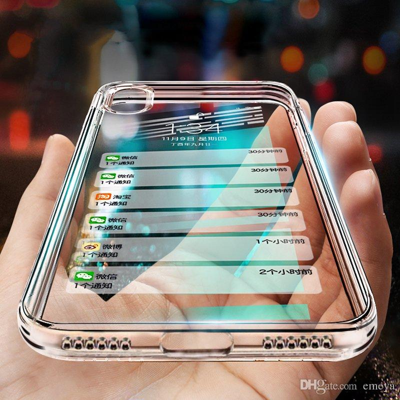 wholesale dealer 325b0 95ae4 Silicone phone case para iphone xs max xr x 10 8 7 6 6 s plus clear tpu  case capa para samsung s8 s9 s10 além de nota 8 9 s6 s7 borda A8 A5 Coque
