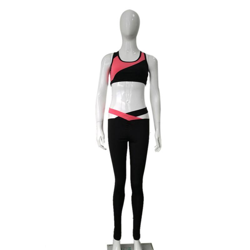 Compre Daddy Chen 2018 Chaleco De Entrenamiento De Mujer Verano Jogging  Mujeres Deportes Trajes De Fitness Set Gym Lady Patchwork Chaleco Para  Mujer A ... 2b1e703388cb9