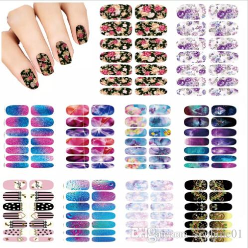 Nails Art Flower Mystery Galaxies Design Stickers For Nails Manicure