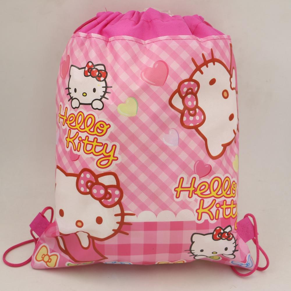 Birthday Party Cartoon Kids Favors Drawstring Bags Baby Shower Non Woven  Fabric Hello Kitty Backpack Decoration Supplies Canada 2019 From  Flymachine, ... 80e98b8f02