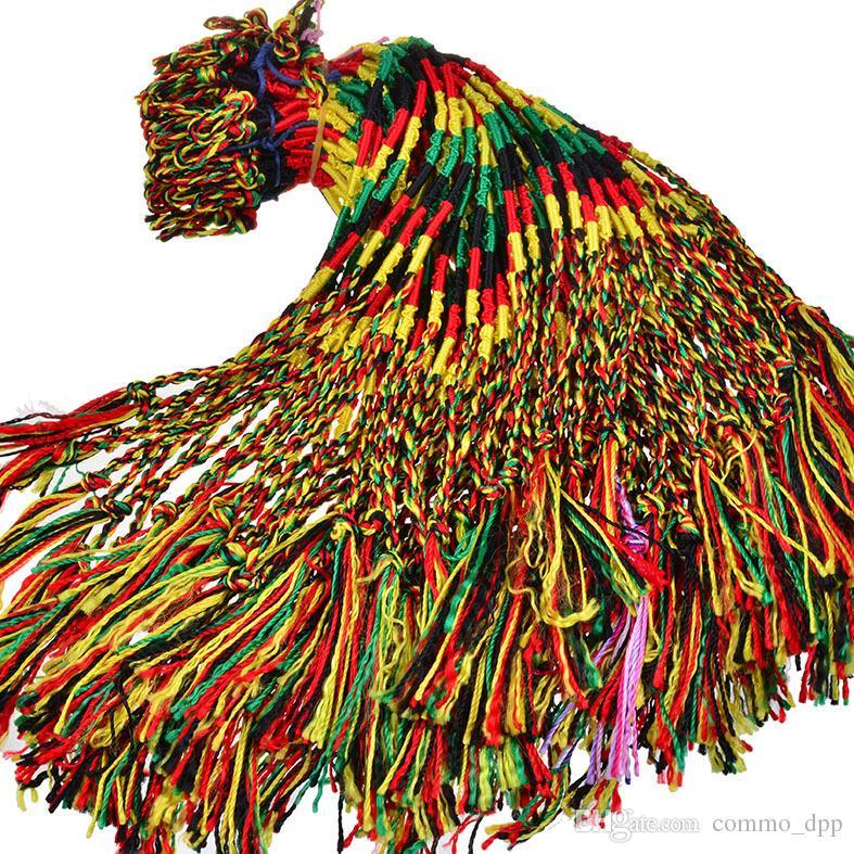 Cheap Luxury Women Colorful Infinity String wrap Bracelet Handmade Braid Cord Strand Braided Rope Bangle For Girl Jewelry in bulk