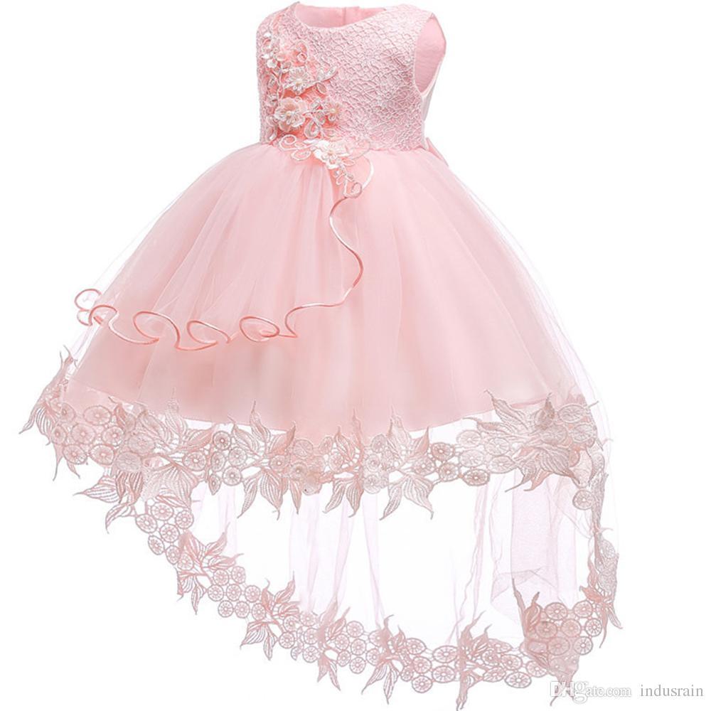 00ddc1561 Vestido de niña de las flores para la boda Bebé niña 0-2 años Trajes de  cumpleaños para niñas Vestidos de primera comunión Fiesta de los niños ...