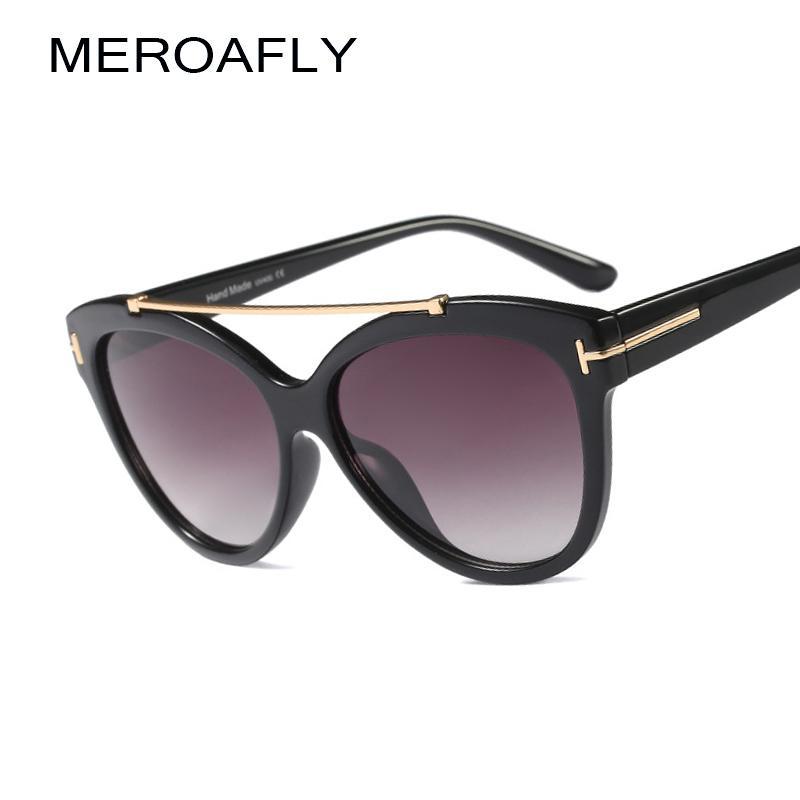 51718bcc37 MEROAFLY Fashion Cat Eye Sunglasses Women Classic Brand Designer Female  Gradient Lens Oval Big Sun Glasses For Women UV400 Sunglasses Cheap  Sunglasses ...