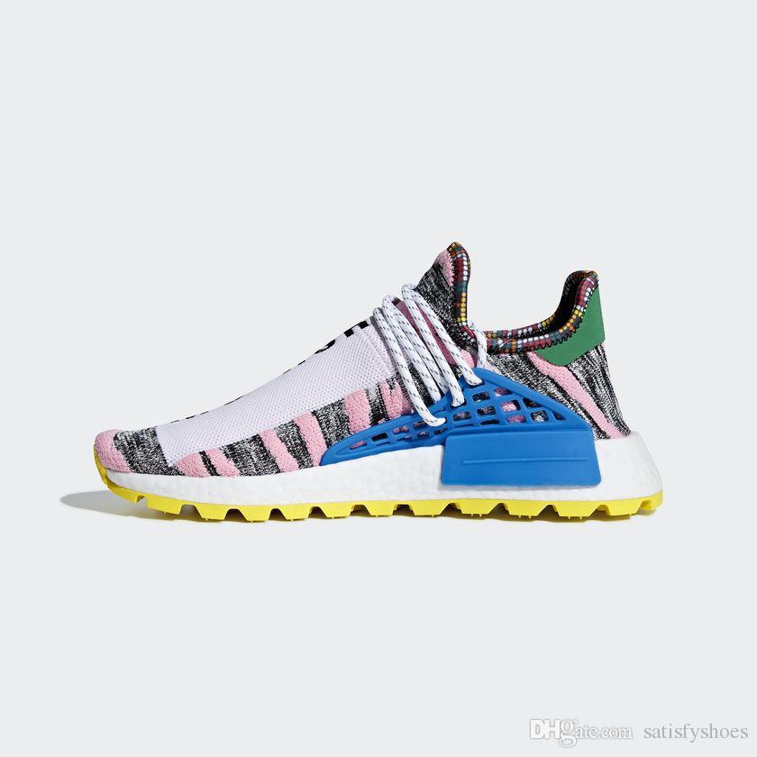 f24508d99 2018 Hot Pharrell Williams X Women Men Running Shoes Human Race ...