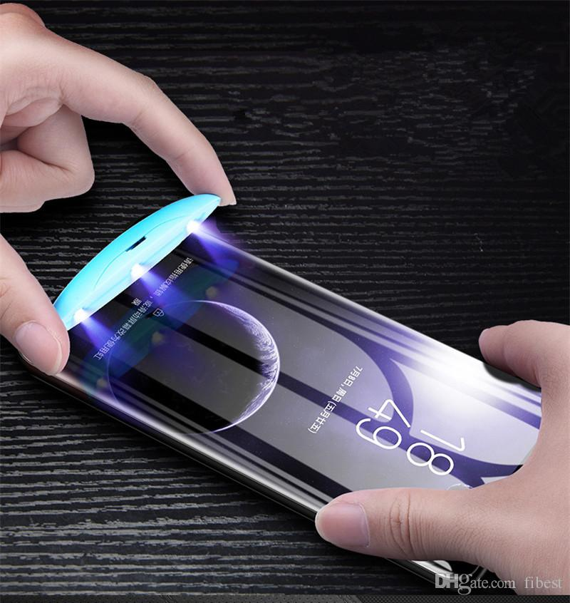 UV Tempered Glass For Samsung Galaxy Note 9 Note 8 S9 S8 Plus S7 edge UV Full Liquid Glue 3D Curved Screen Protector