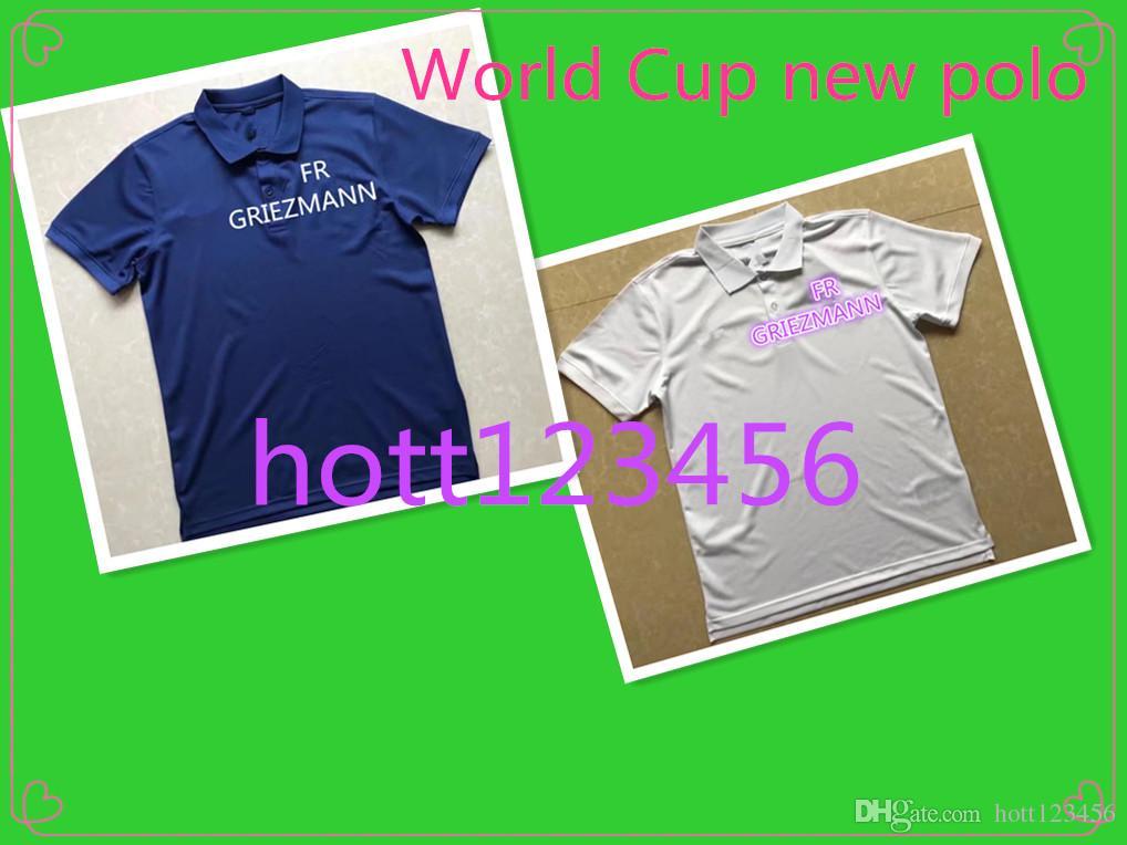 AAA+ 2018 World Cup Polo GRIEZMANN MBAPPE ROONEY KANE 2018 Spain Polo  MULLER KROOS Polo Football Uniforms Sport Shirt On Sale Football Jersey  Shirt Polo ... 2aad5eab4
