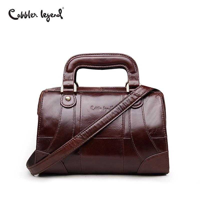 8af59ead72f Cobbler Legend Boxy Design Genuine Leather Women Handbag Brand Fashion Shoulder  Bag Crossbody Vintage Handmade Old Classic Tote Handbags On Sale Leather ...