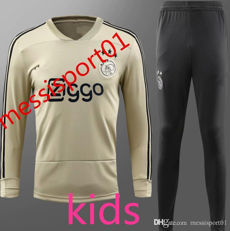 Ajax 2018-19 Kids Survetement Football Tracksuits 2018-19 Ajax ... 9a4775259e1a5