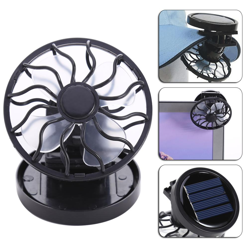 Mexi Solar Panel Powered Mini Portable Clip-on Cooling Fan For Travel Camping Fishing Small Air Conditioning Appliances Household Appliances