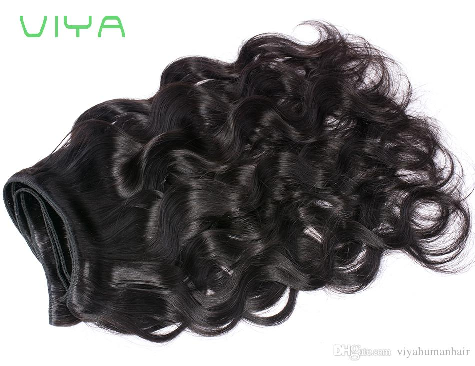 8A Unprocessed Human Hair Brazilian Body Wave Sew In Soft and Thick Virgin Hair Extensions 100g VIYA Remy Human Hair Weave Bundles
