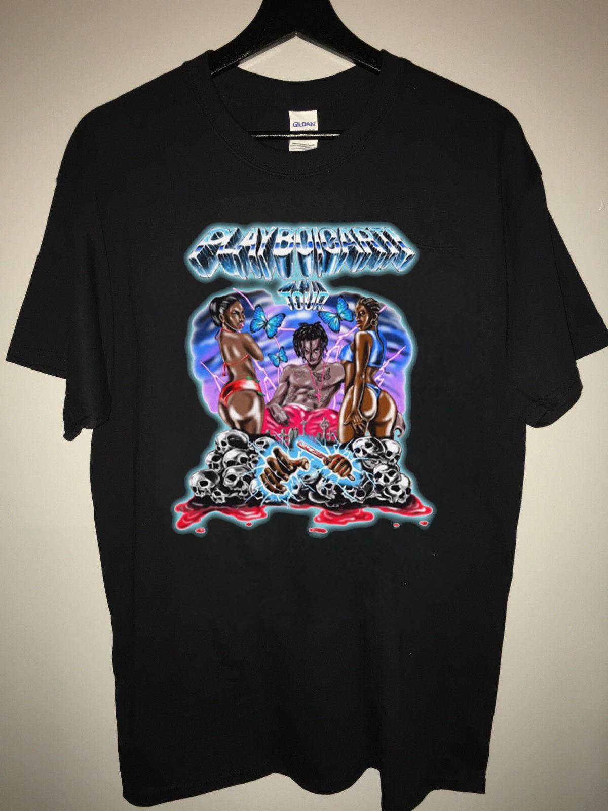 5f2d0241b74 New Playboi Carti Tour Magnolia Rap Tee Hip Hop Best Designer T Shirts  Funny Team Shirts From Grabmybits