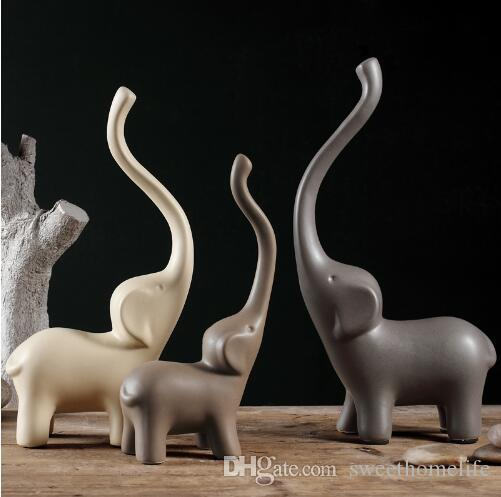 2018 Minimalist Ceramic Long Nose Elephant Statue Home Decor Crafts Room  Decoration Ceramic Handicraft Porcelain Animal Figurine From Sweethomelife,  ...