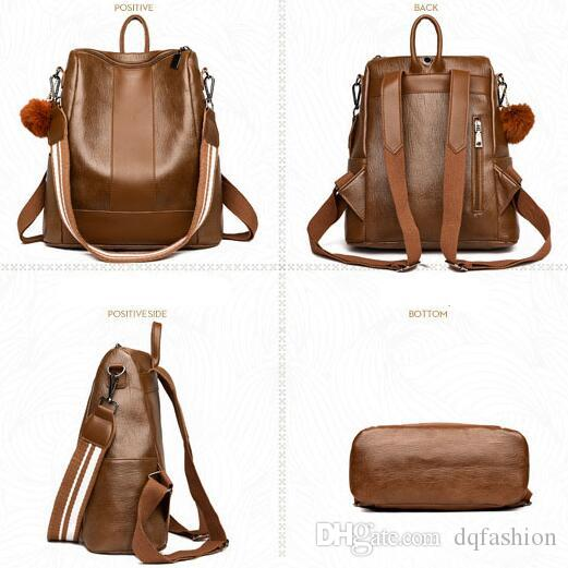 89e38b450392 Wholesale-new brown colour traveling backpack Brand Women s Backpack Solid  color backpack retro wild bag Women s Shoulder Bag for Travelling