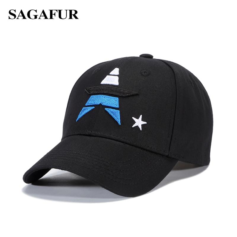 c0ff9a76bf5d5 SAGAFUR Multiple Color Stars Girls Hat Stylish Embroidery Baseball Hats Boy  Outdoor Hats New Fashion Popular Summer Male Caps Mesh Hats Superman Cap  From ...