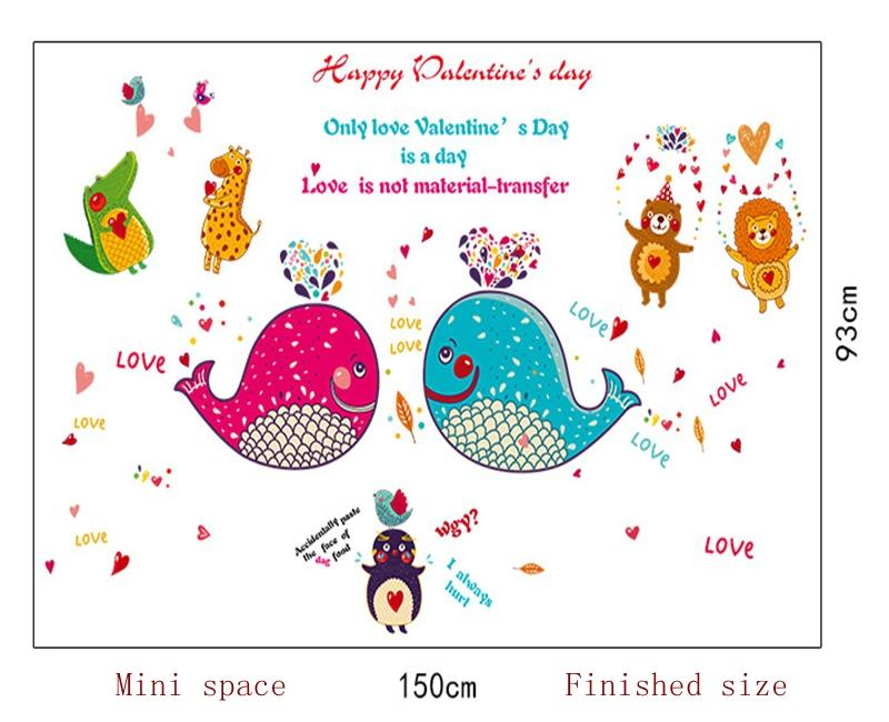 Cartoon dolphin fish animals wall stickers For kids rooms bathroom tile glass children wall decals home decorations