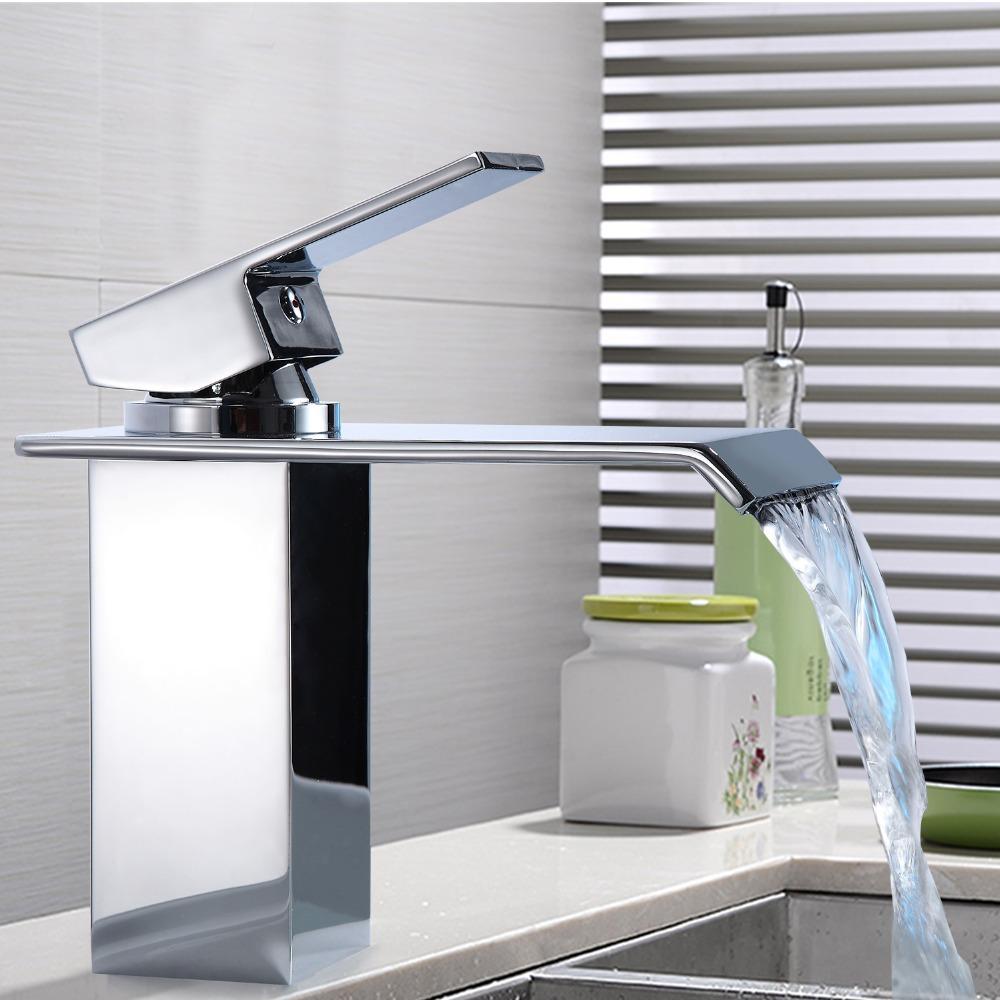 Einzigartige Cool Design Badezimmer Becken Wasserfall Wasserhahn Wasserhahn  Einzelschlauch Deck Montiert HM-8531 20180927 #