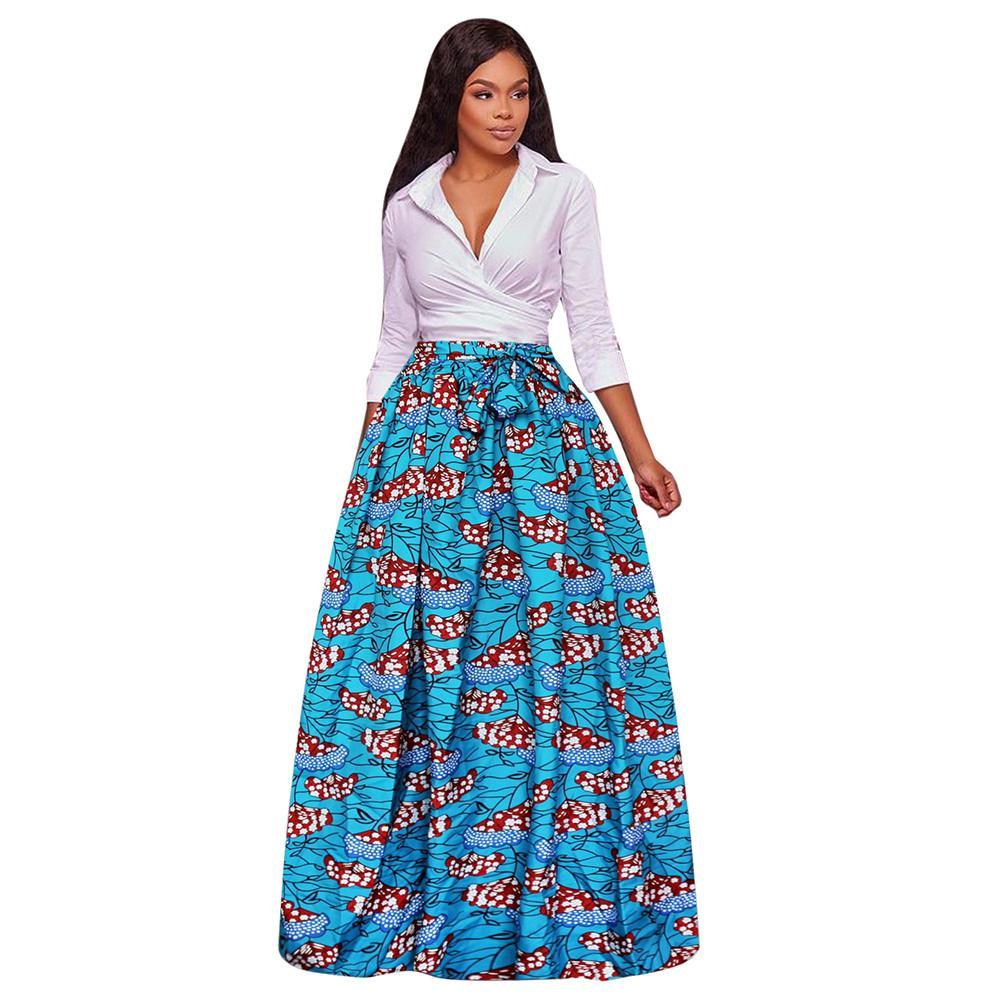 74d51f9562 Feitong 2018 Women's Dashiki Special Girl Streetwear Print Chiffon ...