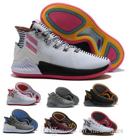 2677a68a41340 Acheter Acheter D Rose 9 Air Basketball Chaussures Homme Homme Blanc  Derrick Rose 9s Designer Runners 2018 Chine Classis Sport Bottes Formation  Sneaker ...
