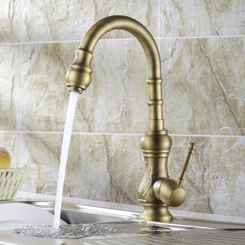 2018 Becola High Quality Kitchen Faucet Antique Bronze Sink Tap ...